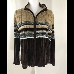 ❤️ 3/20 Carolyn Taylor Soft Cozt zip up sweater